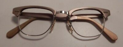 Vintage US Optical Champion Satin Sand 46/22 Eyeglass Frame NOS