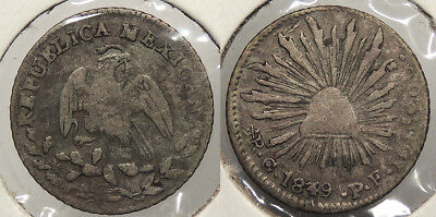 MEXICO: 1849/39-Go PF 1/2 Real #WC76508