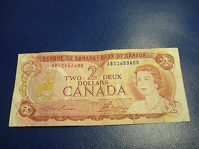 1974 - Canada $2 bill - circulated - Canadian two dollar - ABS2653600