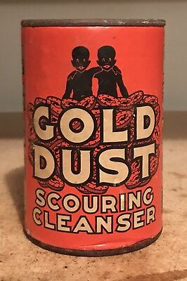 Vintage Gold Dust Scouring Cleanser Can - Lever Brothers - Cambridge, Mass