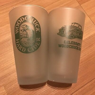 2 Beer Pint Glasses Woodchuck Cider