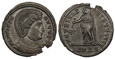 ROMAN IMPERIAL Helena, mother of Constantine I AE Follis 324-328 A.D. Near EF SE