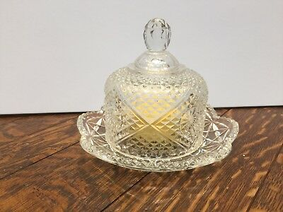 Vintage Avon Glass Butter Dish With Fragrance Soap
