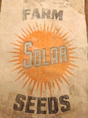 CRAZY RARE Farm SOLAR Seeds Corn Vtg Seed Bag Agriculture Feed Sack Toledo OHIO