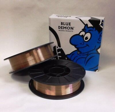 ER70S-6 .035 x 11 lb 2 PK MIG Mild Steel Welding Wire spools Blue Demon