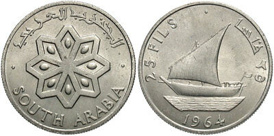 YEMEN: SOUTH ARABIA 1964 25 Fils #WC70671