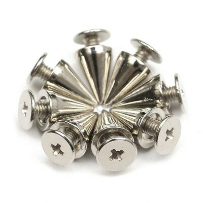100Pcs Silver Metal Studs Rivet Bullet Spike Cone Screw For Leather Craft