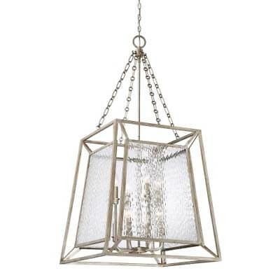 """Quoizel LKE5208VG Lakeside 8-Light 24"""" Wide Chandelier with Water Glass Shade"""