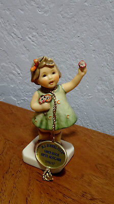 """Hummel Goebel """"forever Yours"""" #793 Figurine Girl Flowers First Issue Tag 1996/97"""