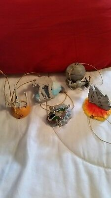 Star Wars Lot Of 5 Mini Ornaments Lucas 2005 Lucasfilm