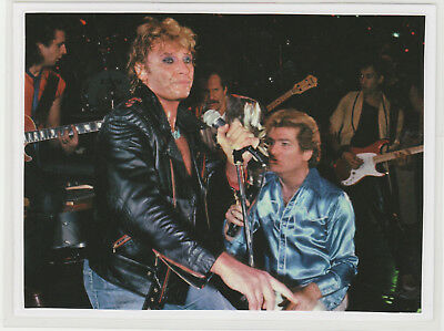 Johnny  Hallyday  / Eddy  Mitchell  8 : Photo De Magazine  Plastifiee