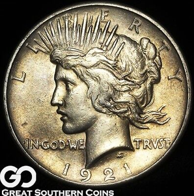1921 Peace Dollar, High Relief Key Date First Year Issue