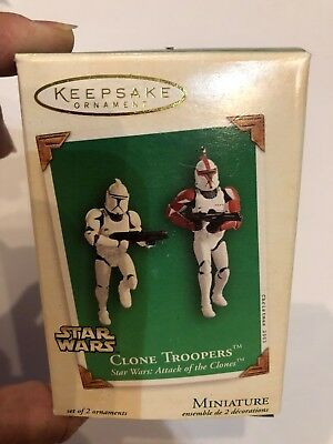 Hallmark Keepsake Ornament CLONE TROOPERS Miniature STAR WARS Attack Of Clones