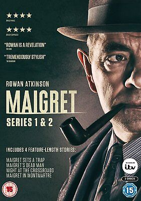 MAIGRET SERIES 1-2 Complete  (2018) Region 2 PAL DVDs only!  Rowan Atkinson