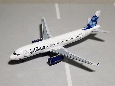 """Velocity Models Jetblue """"absolute Blue"""" A320-200 1:400 Scale Diecast Metal Model"""