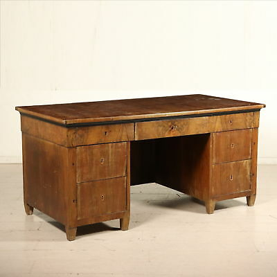 Large Walnut and Maple Desk Italy Late 18th-Early 19th Century