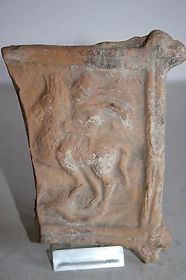 ANCIENT GREEK POTTERY HELLENISTIC EQUESTRIAN TILE  3rd CENTURY BC