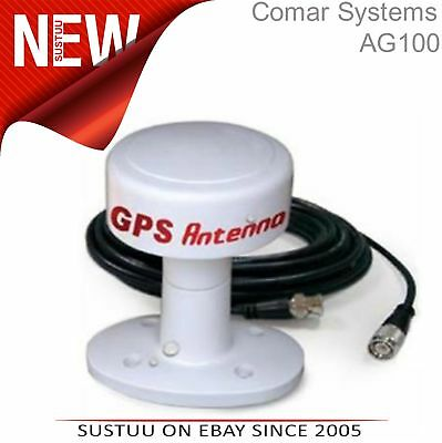 Comar AG100 Antenna GPS│c/w Pole Mount│IP67 Waterproof│Low Noice Amp│10m Cable