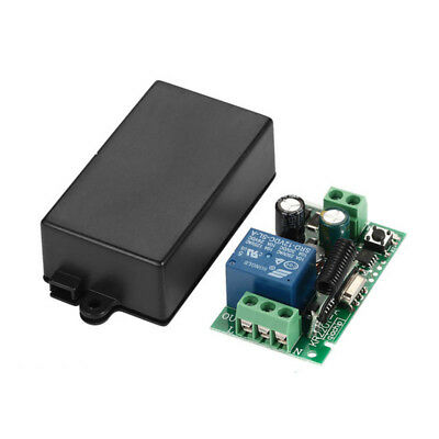 433MHz 220V 1 Ch Receiver Wireless Relay RF Remote Control Switch Module