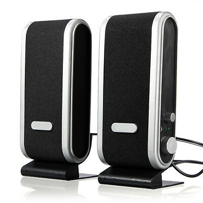 120W USB Power Desktop Computer Notebook Audio Speaker Amplifier 3.5mm Ear