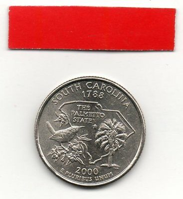 UNITED STATES Quarter SOUTH CAROLINA 2000 25c cents State USA US coin P