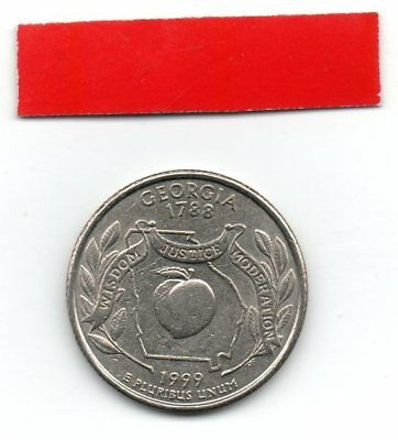 UNITED STATES Quarter GEORGIA 1999 25c cents State USA US coin P