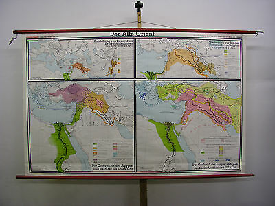 Schulwandkarte Map Africa Old Orient Vintage 1977 Babylon Egypt 210x130 Top
