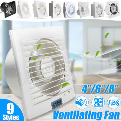 4''-8'' 40W Wall Air Blower Extractor Exhaust Ventilation Fan Kitchen Toilet