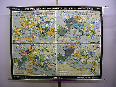 Schulwandkarte Beautiful Old Roman Empire Doom 203x158cm Vintage Map