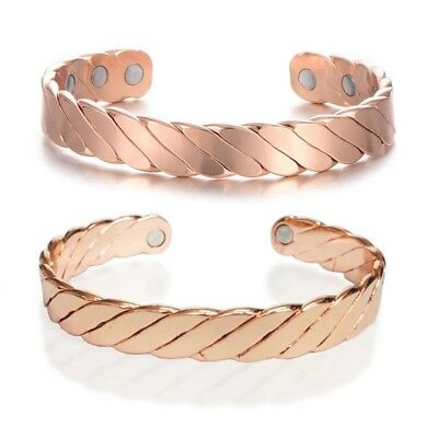 Copper Magnet Health Care Bracelet Magnets Therapy Chain Arthritis Pain Healing