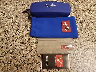 RayBan Junior cobalt blue glasses case and pouch ~ Christmas gift brand new