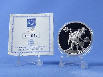 Griechenland 10 Euro 2004 , Olympiade Athen , Silber *PP/Proof* (405)