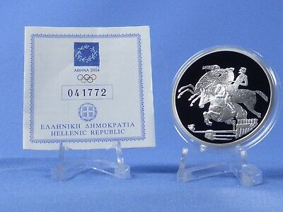 Griechenland 10 Euro 2004 , Olympiade Athen , Silber *PP/Proof* (407)