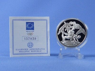 Griechenland 10 Euro 2004 , Olympiade Athen , Silber *PP/Proof* (408)