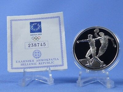Griechenland 10 Euro 2004 , Olympiade Athen , Silber *PP/Proof* (409)