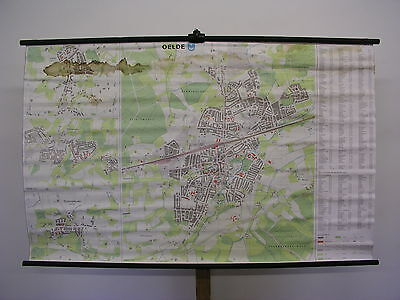 Schulwandkarte Wall Map Map Oelde Warendorf Münsterland City Map 158x99 ~ 1980