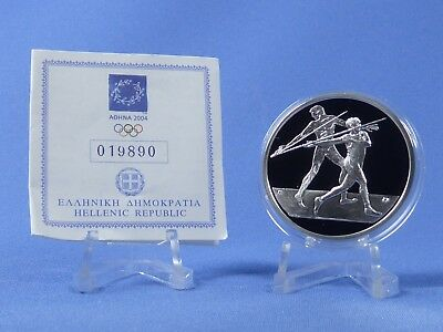 Griechenland 10 Euro 2004 , Olympiade Athen , Silber *PP/Proof* (410)