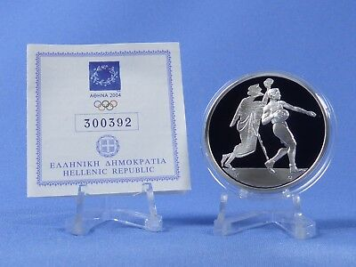 Griechenland 10 Euro 2004 , Olympiade Athen , Silber *PP/Proof* (411)