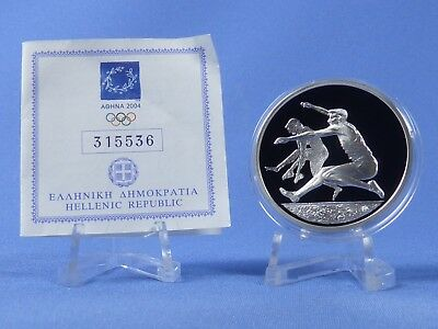 Griechenland 10 Euro 2004 , Olympiade Athen , Silber *PP/Proof* (412)