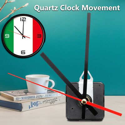 Quart Movement Mechanism  Silent Clock Red and Black Hands Module Kit Tool Set