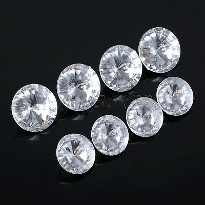 10Pc Crystal Upholstery Button Metal Acrylic 25mm 30mm Headboard Furniture Decor