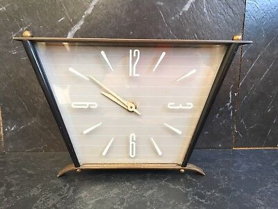Vintage Smiths 50s Mantle Clock Collectible Metal Surround