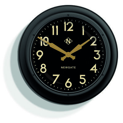 NEWGATE CLOCKS Giant Electric Round Analogue Silver Extra Large Wall Clock 60cm
