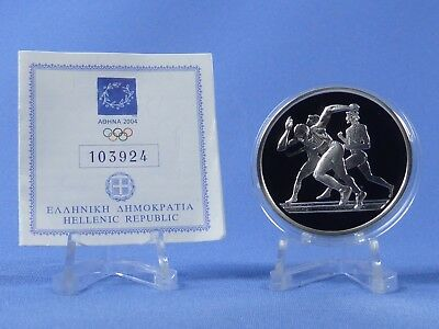 Griechenland 10 Euro 2004 , Olympiade Athen , Silber *PP/Proof* (416)
