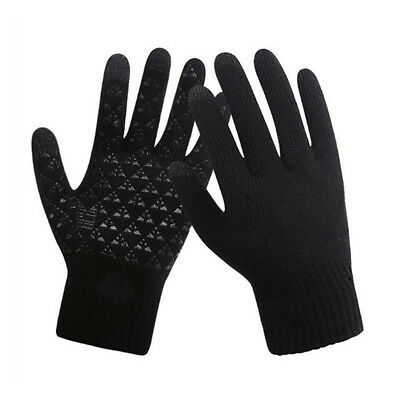 Men's Male Winter Warm Fleece Lined Thermal Knitted Gloves Touch Screen Mittens