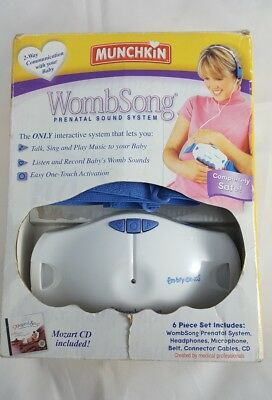 Munchkin Wombsong Prenatal Monitor 2way Communication with your baby pregnancy