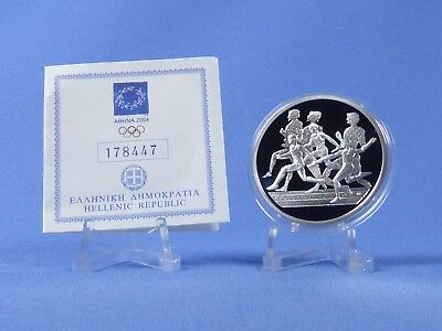Griechenland 10 Euro 2004 , Olympiade Athen , Silber *PP/Proof* (417)
