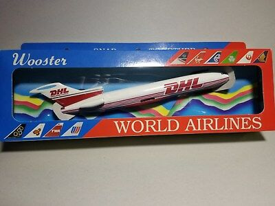 Wooster (W227) Dhl 727-200 1:200 Scale Plastic Snapfit Model