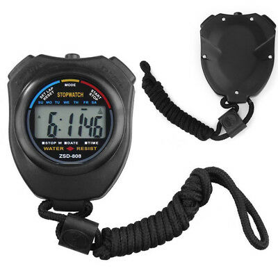 New Digital Handheld Sports Stopwatch Stop Watch Timer Alarm Counter UK Seller