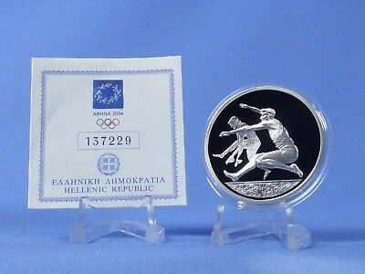 Griechenland 10 Euro 2004 , Olympiade Athen , Silber *PP/Proof* (418)